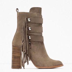 BNWT Genuine Leather Zara Boots SZ 6